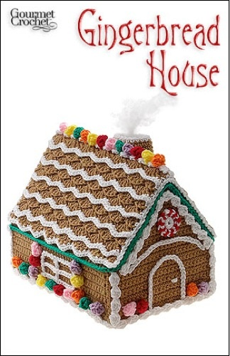 Gingerbread houses are fun family project to make during the holidays, but they don't last as long as you would like. Instead of making a house with gingerbread and frosting, crochet a cute little house with the Gingerbread House Pattern. This fun to crochet project will look even better when put on display. The charming frosted gingerbread house is decorated with colorful popcorn-stitch gumdrops and chain stitch frosting to give it a natural look. The best part about this gingerbread