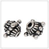 Silver bali bead and handmade ornament