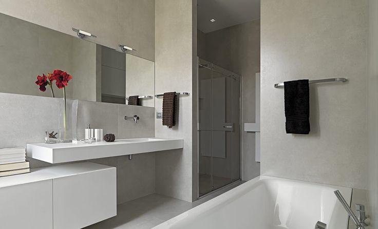Moderne badkamer met betonlook - badkamer inrichten