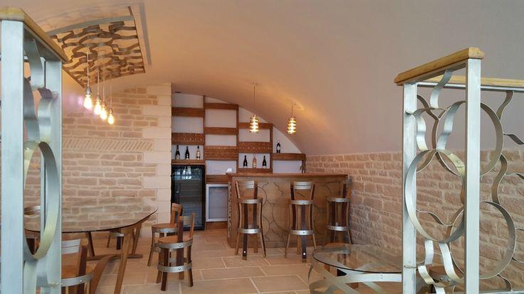 winebar, meuble design, agencement, pièce unique, cave à vins ... - Meuble Design Bordeaux