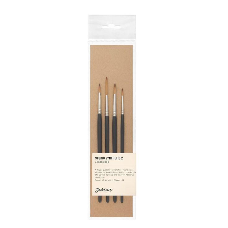 Jackson's Studio Synthetic 2-4-6-R4 Brush Set