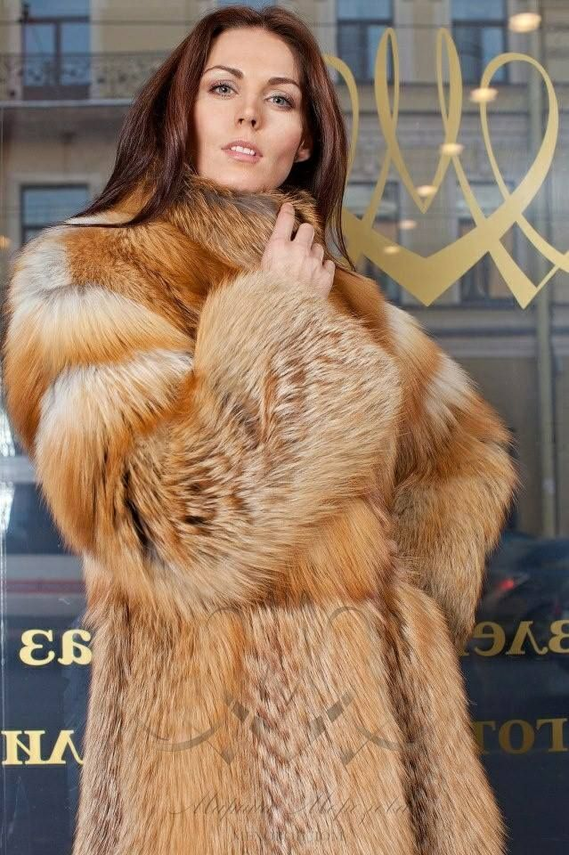 red fox fur coat | Fur Warmth | Pinterest | Fox fur coat, Red fox ...