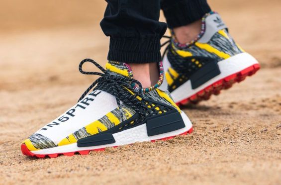 aa172ba8b Pharrell x adidas NMD Hu Solar Core Black Red Dropping Tomorrow The Pharrell  x adidas NMD