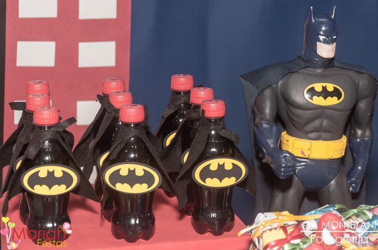 Tema Heróis | Refrigerante personalizado | Batman | Mariah festas #personalizadosherois #festamenino