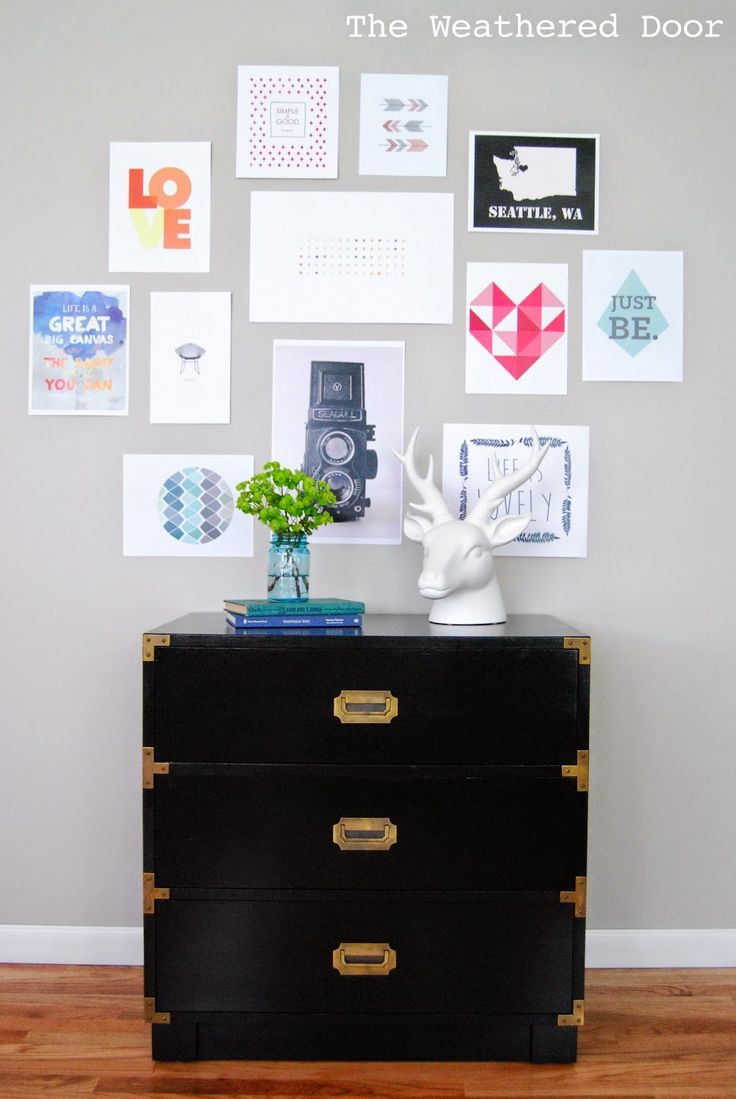 HOW TO PAINT A LAMINATE TOP. - The Weathered Door: Glossy Black Campaign Chest