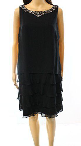 Jessica Howard Womens Petite Tiered Embellish Dress Black... https://www.amazon.com/dp/B01N2OO3TG/ref=cm_sw_r_pi_dp_x_XcqOybEA3QMAE