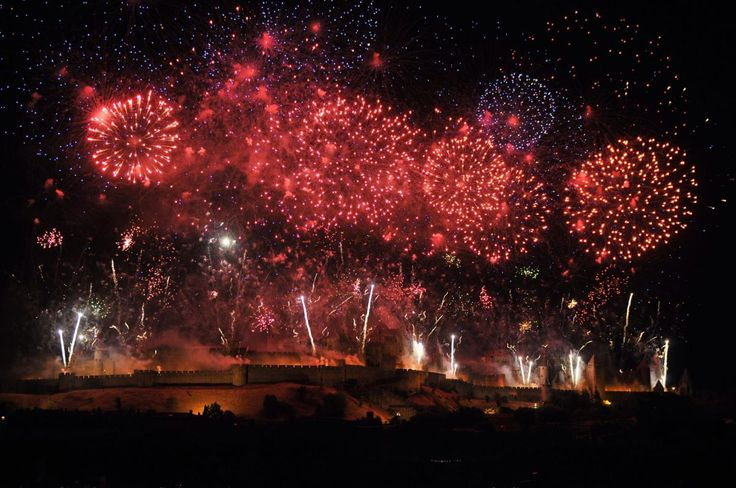 Carcassonne, France. The walled city celebrates the 14 July national day 2016.