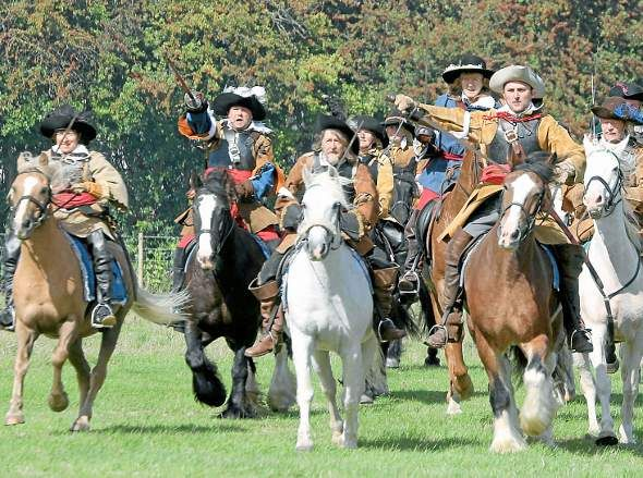 Charge! Cavaliers of The Sealed Knot re-enactment society bear down on ...