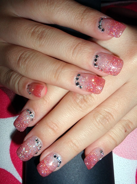 Glittery Princess Nail Designs