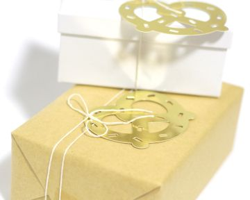 Gold Pretzel Gift Tags