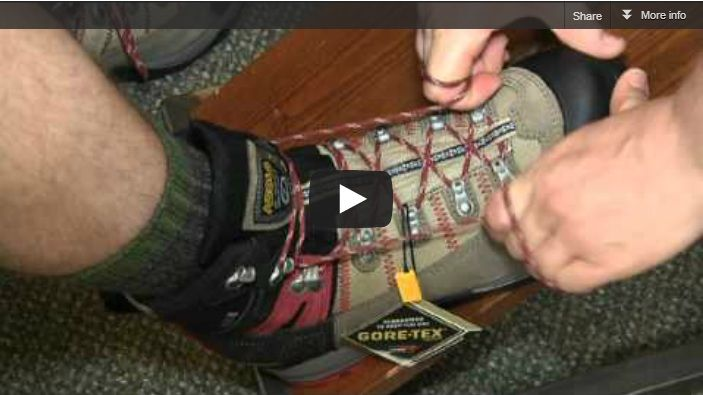 If you wear hiking boots and get blisters when you go hiking or if your boots don't fit as well as you'd like, there are a handful of powerful hiking boot lacing techniques that you can use to dial in a much better fit.