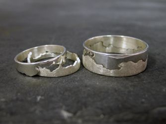 hannah lamb Hand pierced coast rings based on a coastline map. Any map done to commission.