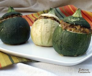 A classic dish from the south of France, these cute zucchini are stuffed with a sausage and herb mixture for an elegant main dish that is sure to impress.