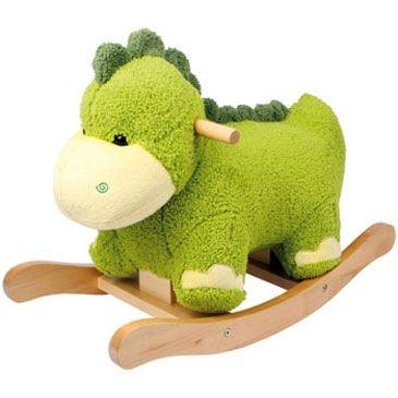 De Hobbelpaarden Specialist heeft de leukste hobbelpaardjes te koop. Ook pluche schommeldieren als deze Babalu Dinosaurus voor baby's +9 mnd.