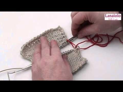 Stricken lernen mit eliZZZa #12 * Strickteile mit Quernaht zusammennähen * Maschenstich - YouTube