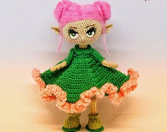doll tutorial Crochet pattern doll body with wings,handmade amigurumi doll by smolly/_dolls