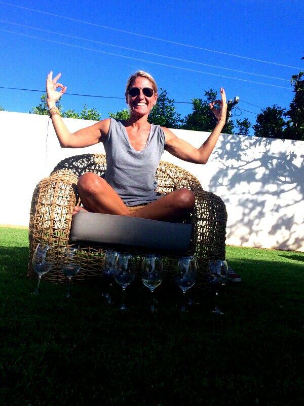Wine Yoga Moment
