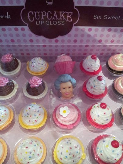 The Queen has really lost her head over our cupcake lip gloss!   www.kimprints.com