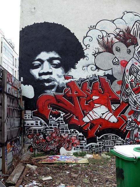 My man JimiGraffiti Artworks, Graffiti Street Art, Graffiti Paris, Paris Graffiti, 3D Art, Jimihendrix, Paris Streets, Art Graffiti, Streetart