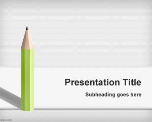 Pencil PowerPoint background is a nice educational PowerPoint template with a simple pencil illustration or vector in the slide design