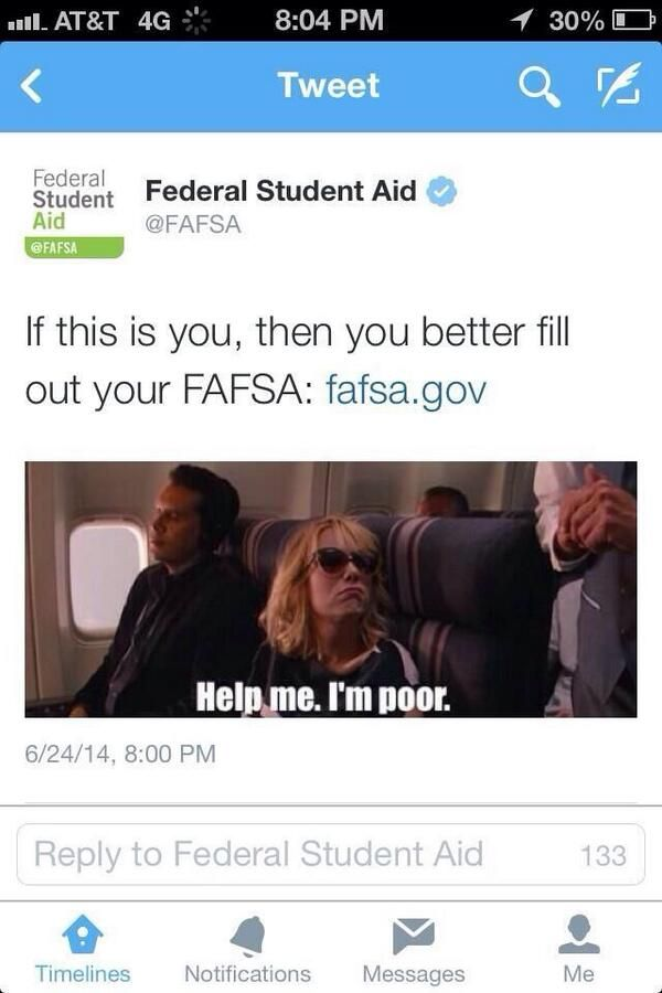 "FAFSA Apologizes After Tweeting ""Help Me I'm Poor"" Meme. Amazing."