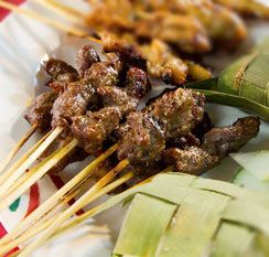 BBQ Ginger Beef Sticks Remember the days of bbq sticks - you know, the kind that we would order at carnivals or on the side with saimin.  This is my version of bbq sticks made with a ginger soy drizzle for extra flavor