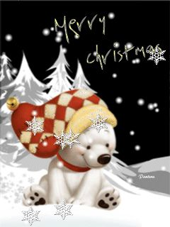 Счастливого рождества - анимация на телефон №1209646