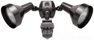 RAB STL360H Motion-Activated 360 Degree Security Sensor Double Head Light Fixture; 1000 Watt, 120 Volt, Bronze