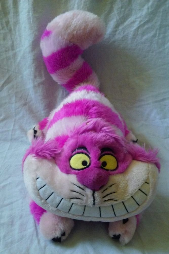"Disney Store Exclusive Alice In Wonderland Cheshire Cat Plush Toy Doll 17"" #DisneyAliceInWonderlandCat #DisneyCheshireCat"