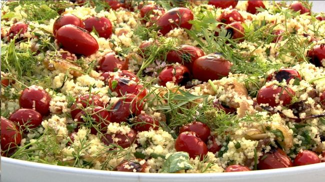 Ottolenghi - Recipes - Couscous with grilled cherry tomatoes and fresh herbs