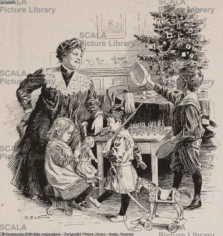 ******** Pezzo mancante: un bambino si lamenta perch nella scatola di soldatini ricevuta a Natale manca una cuoca, illustrazione tratta dalla rivista umoristica Fliegende Blaetter, numero 3212, 15 febbraio 1907.