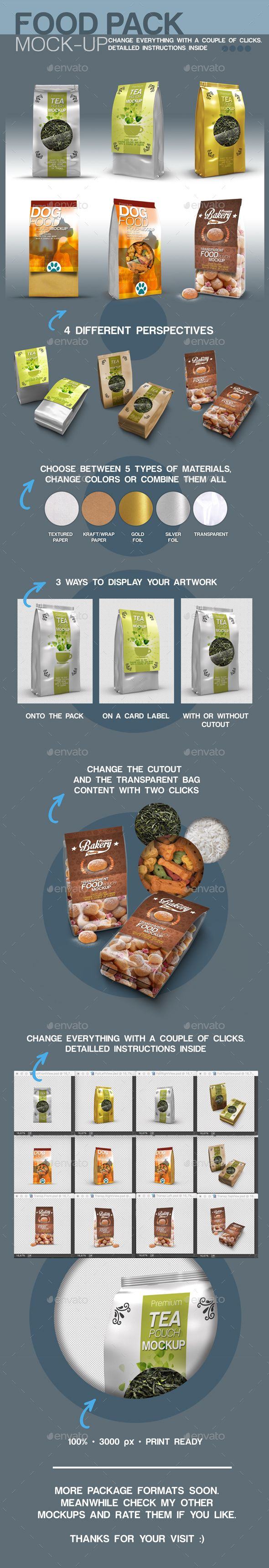 Premium Food Pack Mockup - Food and Drink Packaging