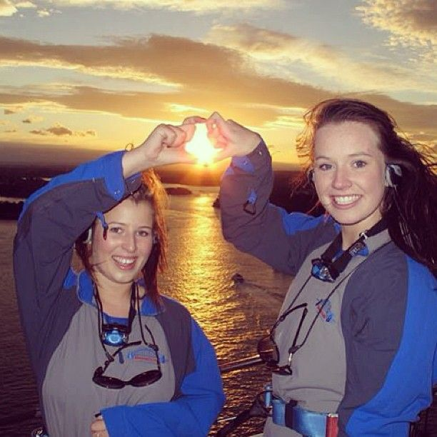 Making memories on a twilight climb, with love from Eliza & Rachel of Scotland