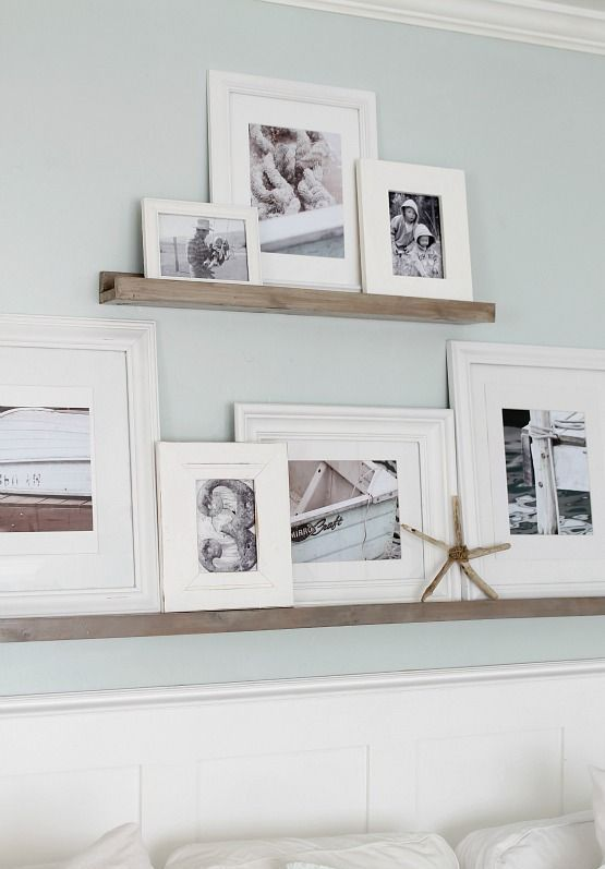 34 Cool Ways To Use Picture Ledges For Home Décor | DigsDigs