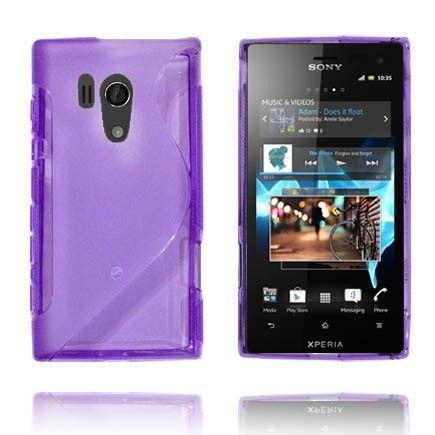 Läpikuultava S-Line (Violetti) Sony Xperia Acro S Suojakuori
