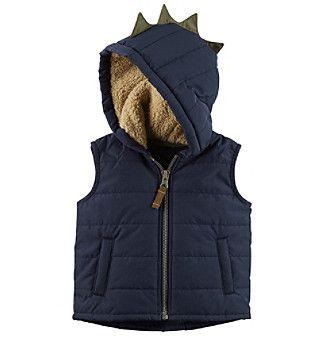 Carter's Baby Boys' Zip Up Hooded Spike Vest