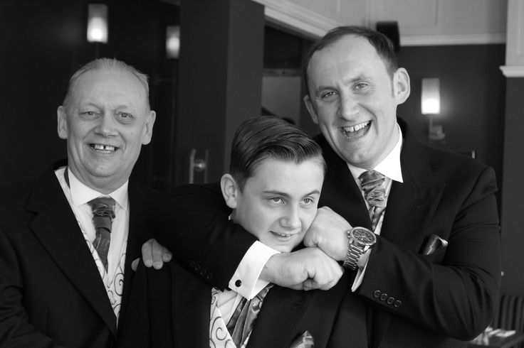 The groom gets to grips with the Best man - White Swan Hotel, Alnwick, Northumberland. Alnwick wedding photography