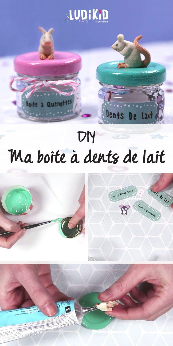 La jolie boîte pour mettre sa petite dent de lait. Un DIY à faire très rapidement avec l'aide de votre ptit loup !