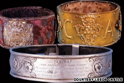medieval dog collars http://www.leeds-castle.com/Attractions/The+Dog+Collar+Museum
