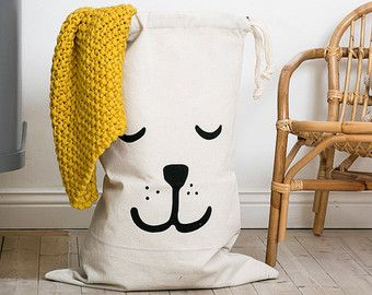 Schlafender Bär Paperbag Lagerung von Spielzeug von Tellkiddo