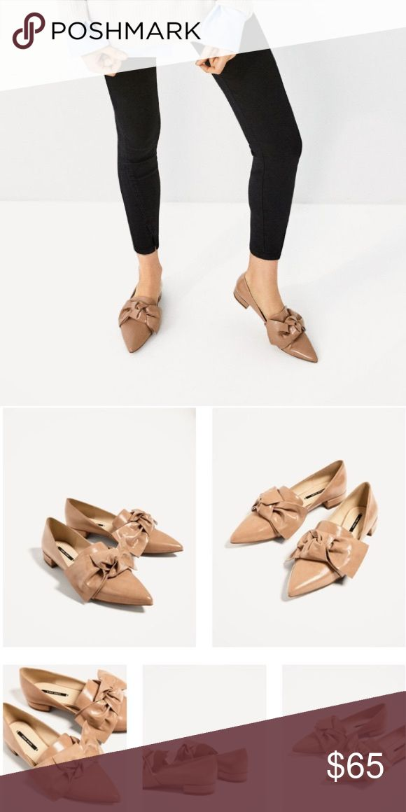 Zara Bow Flats Sold out. Size 37. No box, only dust bag. No trades, no pp. Price is firm. Zara Shoes Flats & Loafers