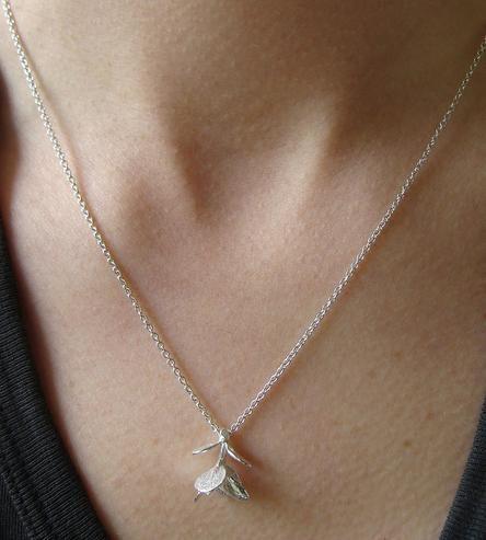 Succulent Leaf Silver Necklace | Brides and Bridal Party Attire & Accessories | Mani Designs | Scoutmob Shoppe | Product Detail