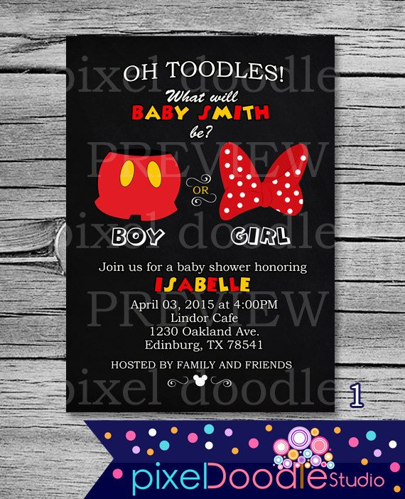 25+ best ideas about disney gender reveal on pinterest | disney, Baby shower invitations