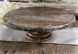 Rustic Wood Cake Stand|4 x 12in some idea's for jen
