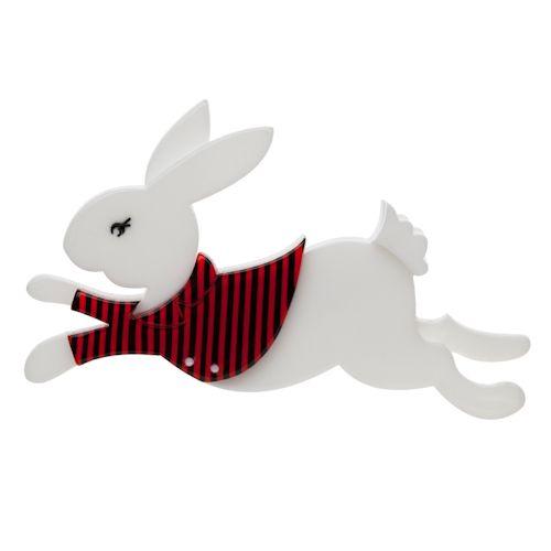 Erstwilder - The White Rabbit brooch