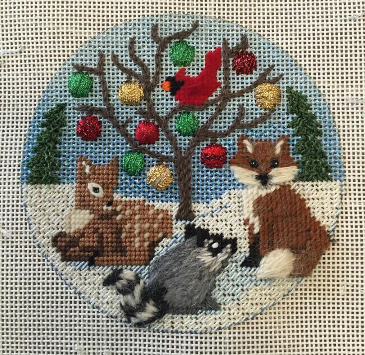 Alice Peterson needlepoint ornament