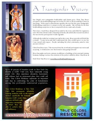 Fitness Guru Chris Tina Bruce, as featured in Connextions Magazine.