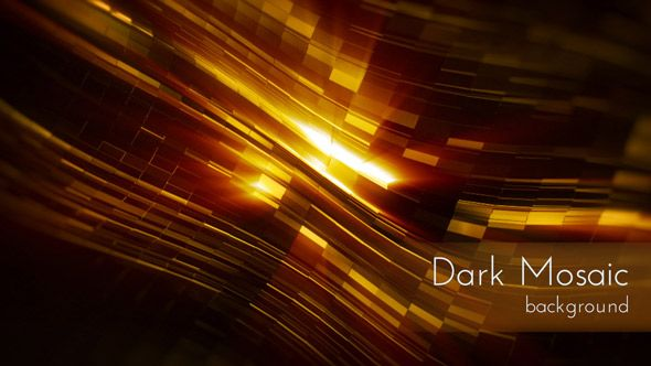 Dark Mosaic Surface with Energy Light Rays Motion Background