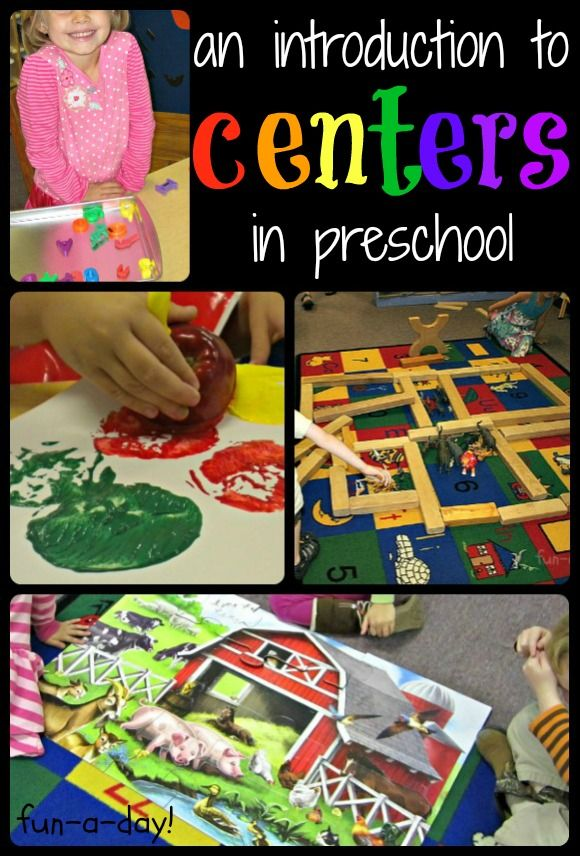 Classroom Center Ideas : An introduction to centers in preschool