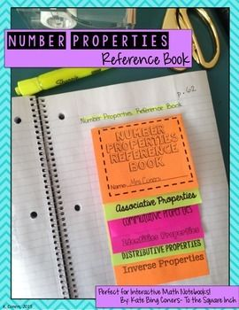 Number Properties Foldable for Interactive Math Notebooks